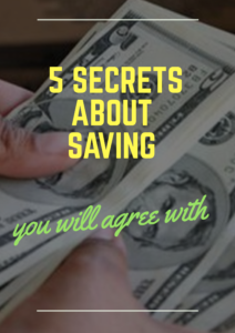 5 secrets about saving