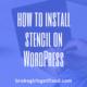 install stencil on WordPress