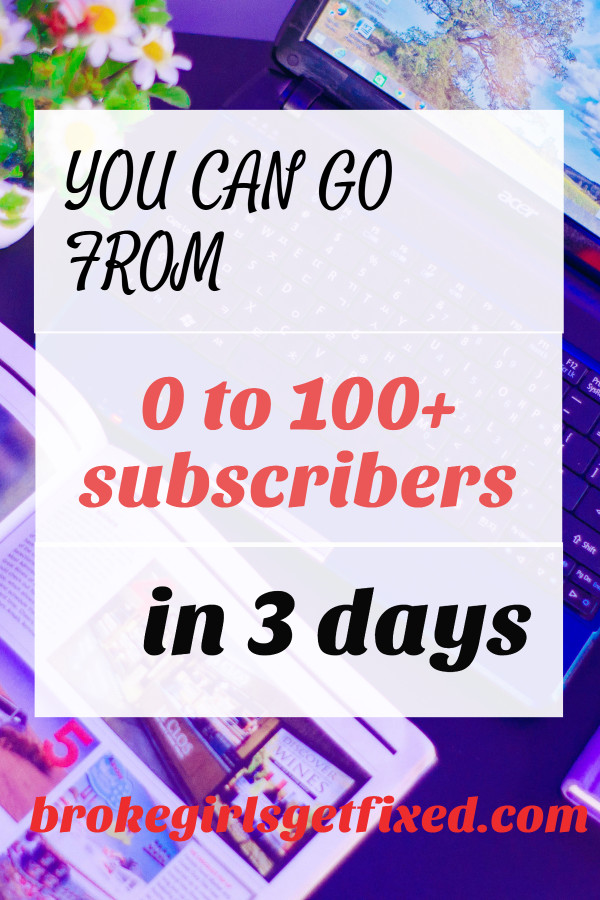 100 email subscribers in 3 days