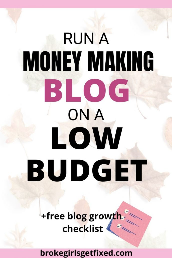 cheap ways to run a blog on a low budget