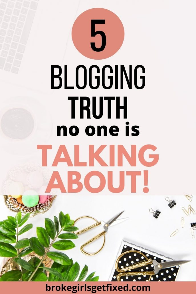 truth about blogging no one tells you.
