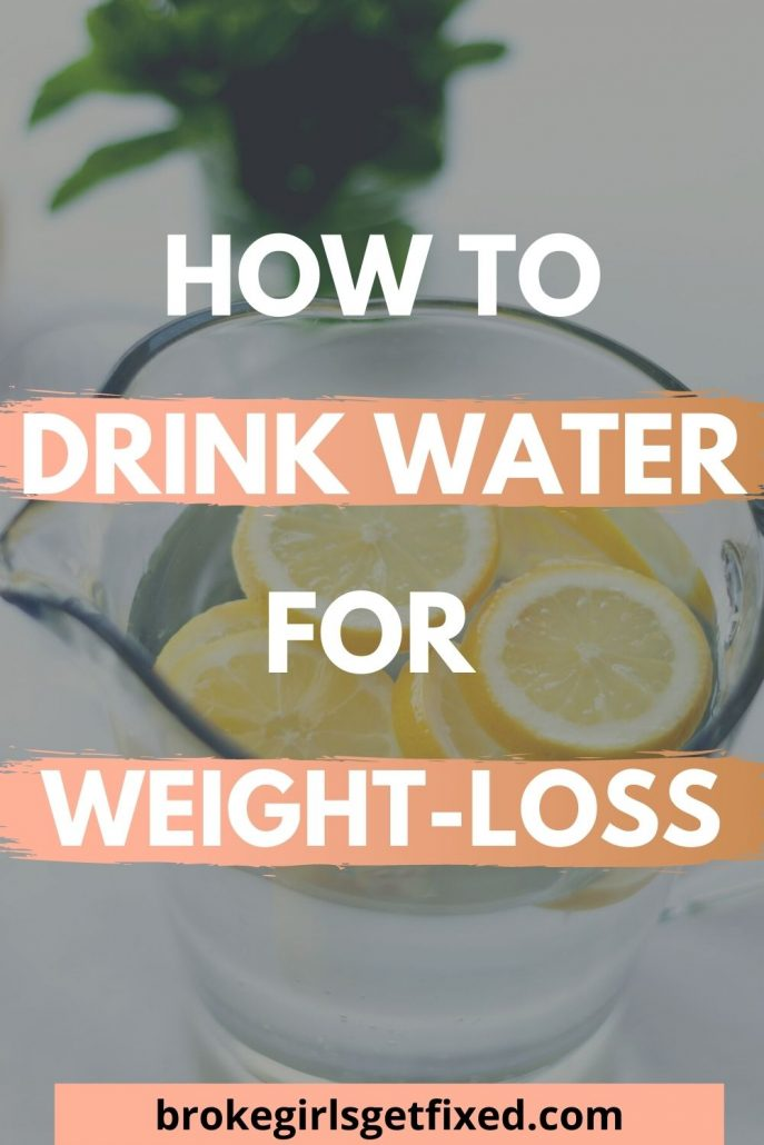 how to drink water for weight-loss