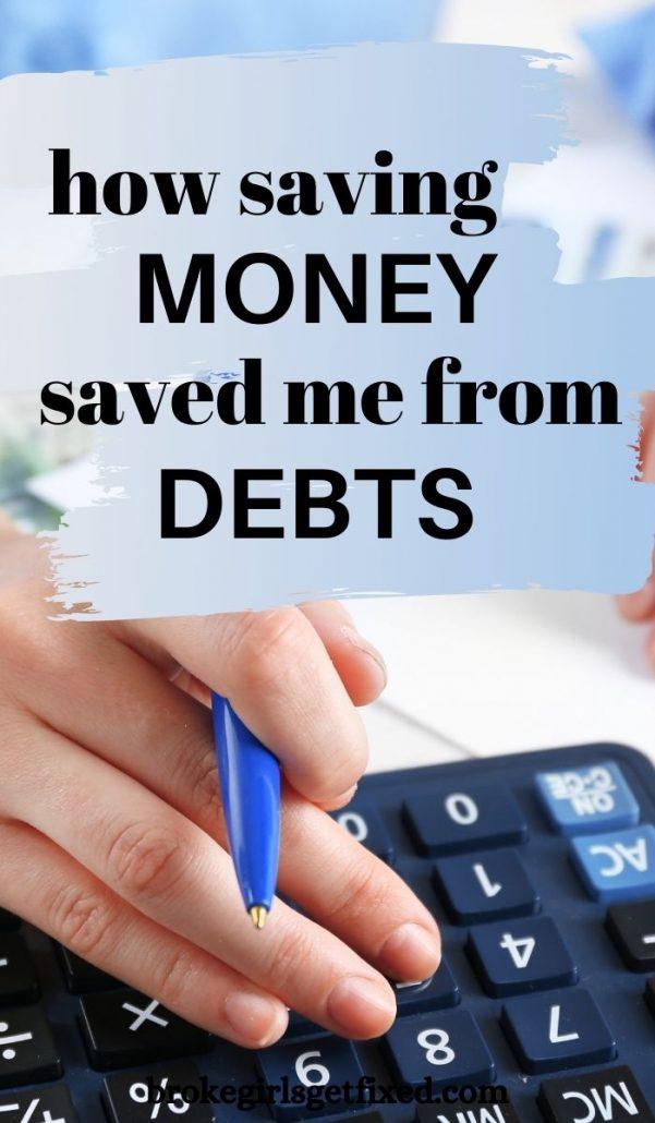 Pinterest pin on saving money and debt-free living