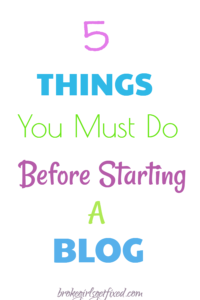5 things to do when starting a blog