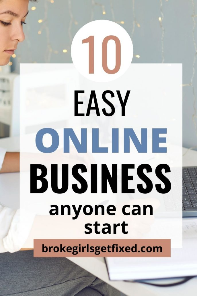 Pinterest pin on the easiest online business