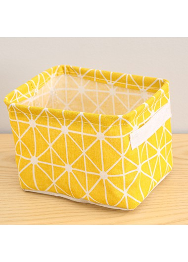 yellow storage basket