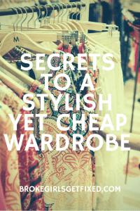 secrets to a stylist but cheap wardrobe