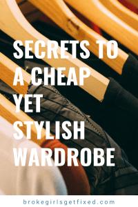 secrets to a stylish yet cheap wardrobe