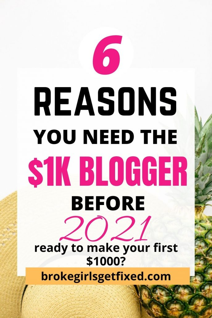 reasons you need the $1k blogger