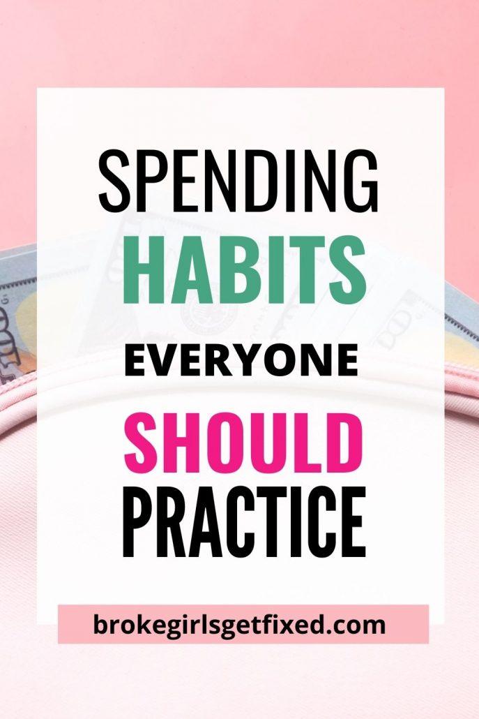 good spending habits to start now
