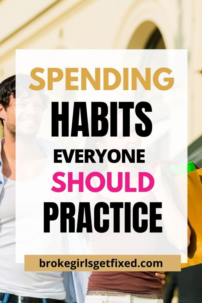 good spending habits to start