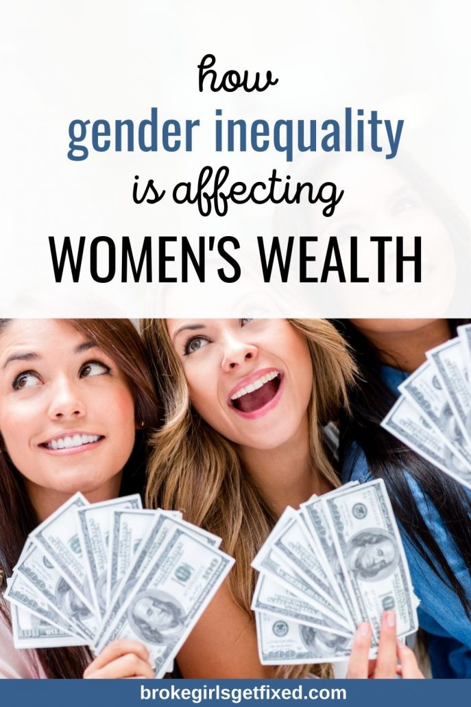 how gender inequality is affecting women's  wealth