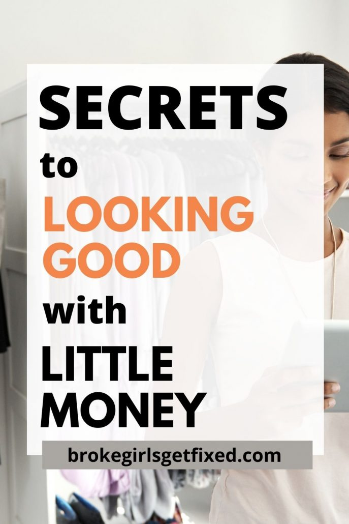Pinterest pin on spending less money on clothes
