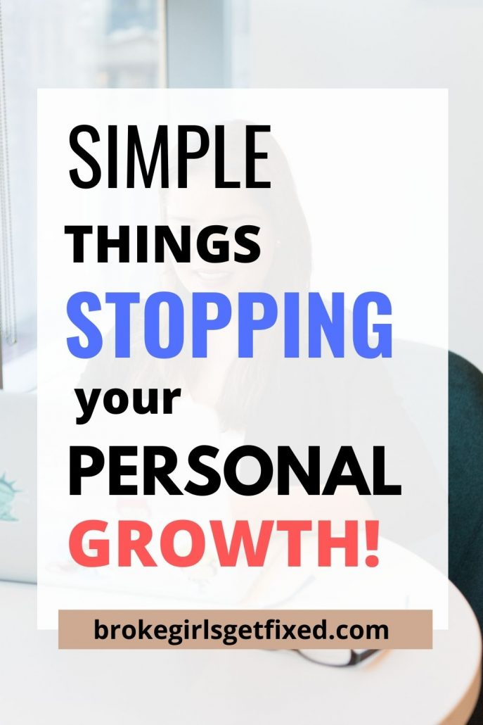 things stopping you from achieving personal development