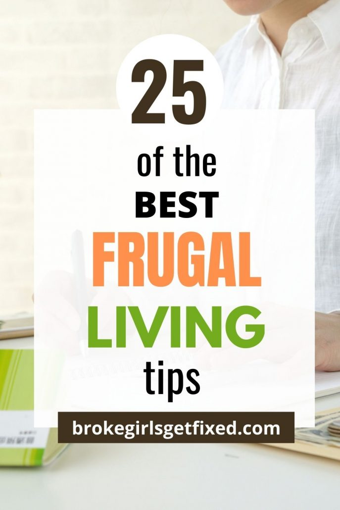 Pinterest pins on frugal living tips