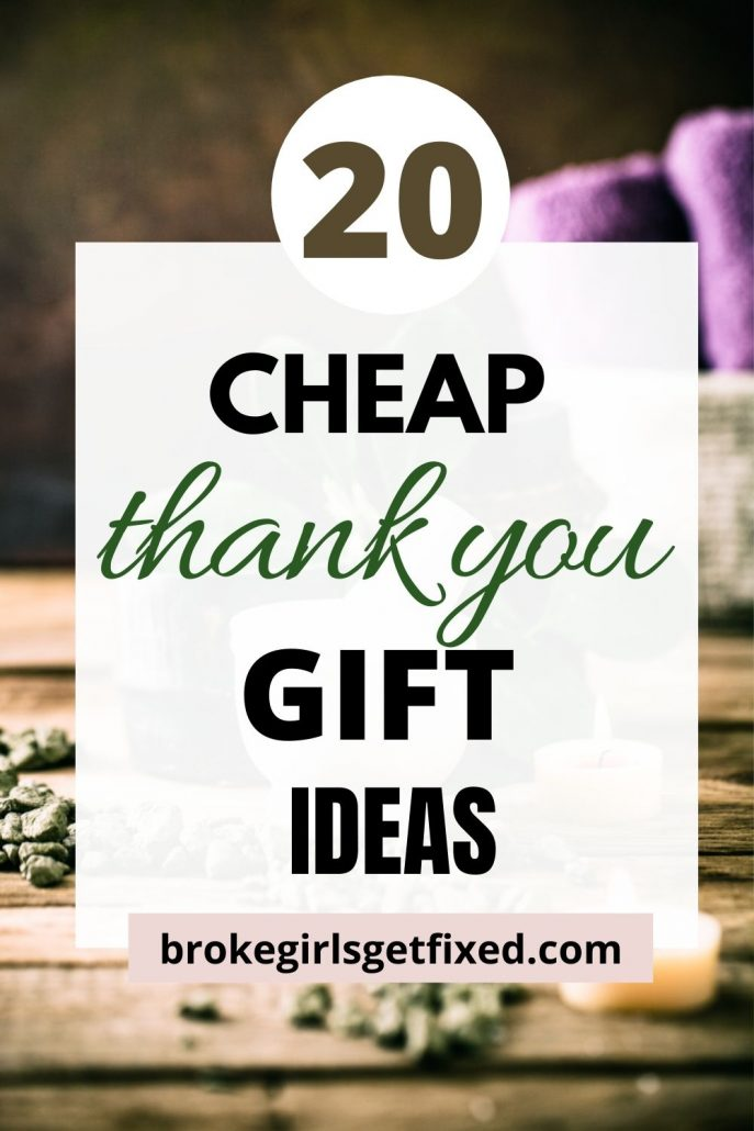 inexpensive thank you gift