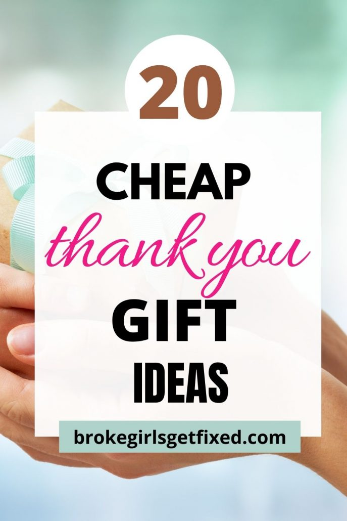 inexpensive thank you gift ideas