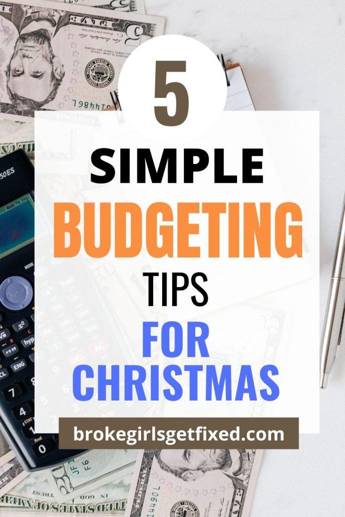 budgeting tips for Christmas